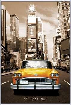 New York taxi no. 1 bekeretezett plakát