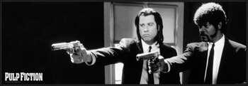 Pulp Fiction - b&w guns bekeretezett plakát