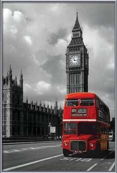 London red bus bekeretezett plakát