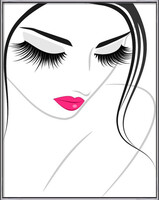 Lash extension beauty icon bekeretezett plakát