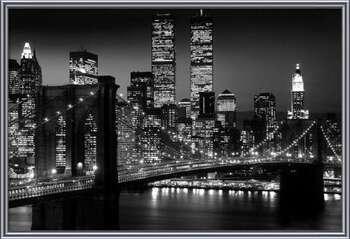 Manhattan - Night bekeretezett plakát