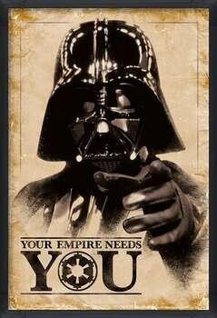 Bekeretezett plakát Star Wars - Your Empire Needs You