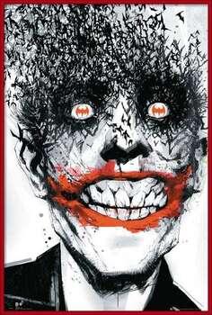 Bekeretezett plakát BATMAN Comic - Joker Bats