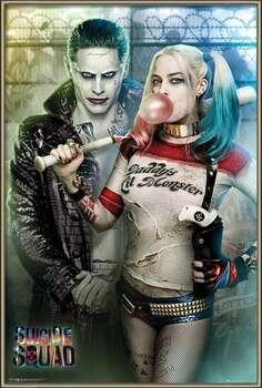 Bekeretezett plakát Suicide Squad - Joker and Harley Quinn