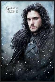 Bekeretezett plakát Game of Thrones - Jon Snow