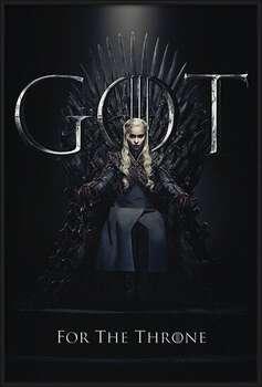 Bekeretezett plakát Game Of Thrones - Daenerys For The Throne