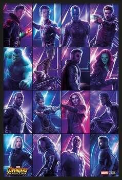 Bekeretezett plakát Avengers: Infinity War - Heroes
