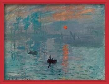 Bekeretezett plakát Impression, Sunrise - Impression, soleil levant, 1872