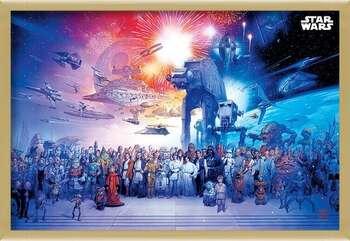 Bekeretezett plakát Star Wars - Universe