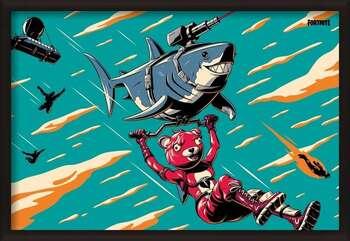 Bekeretezett plakát Fortnite - Laser Shark
