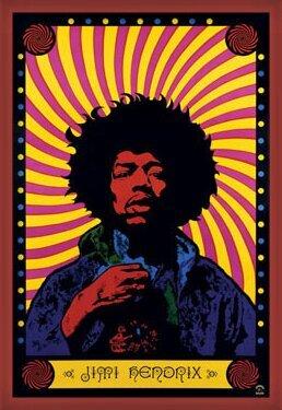 Jimi Hendrix - psychedelic Plakát