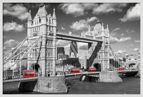 London - tower bridge buses Plakát