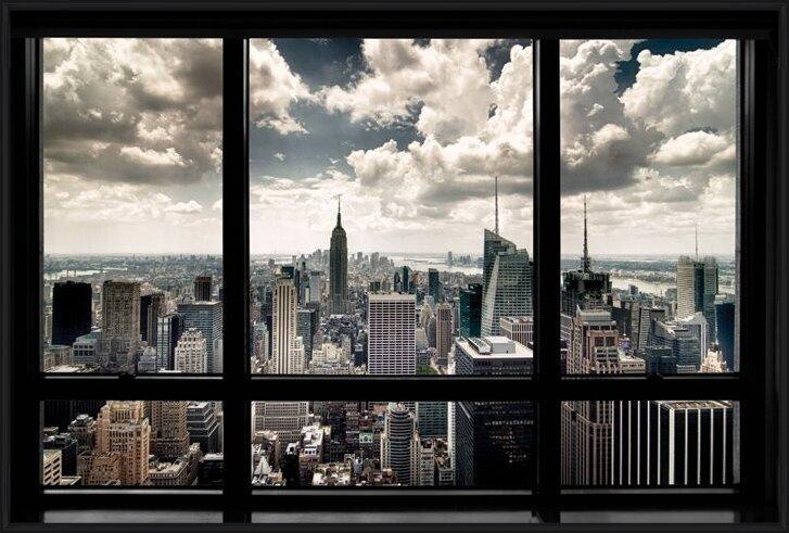 New York - window Plakát