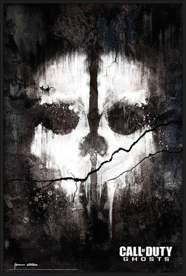 Call of Duty Ghosts - skull Plakát