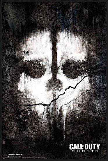 Call of Duty Ghosts - skull Plakát