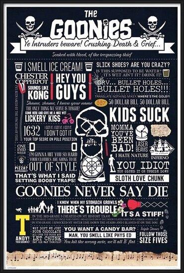 The Goonies - Typographic Plakát