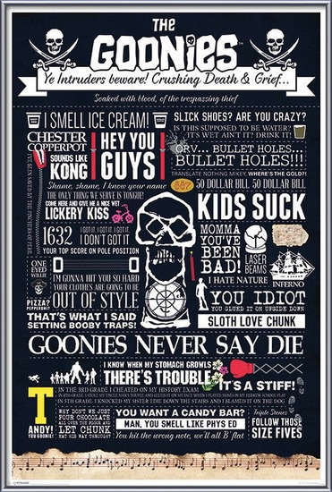 The Goonies - Typographic Plakát