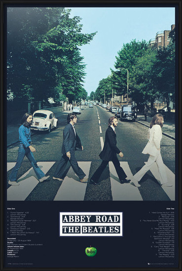 Beatles - Abbey Road Tracks Plakát