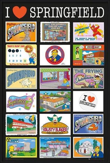 A Simpson család - Postcards Plakát