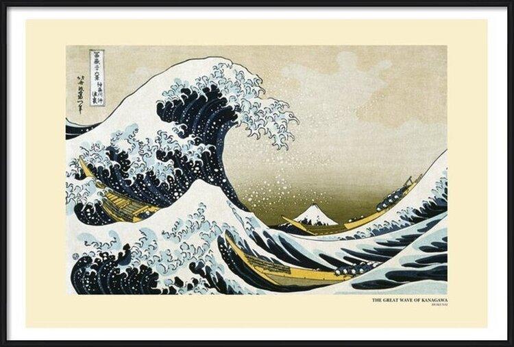 Katsushika Hokusai- The Great Wave off Kanagawa Plakát