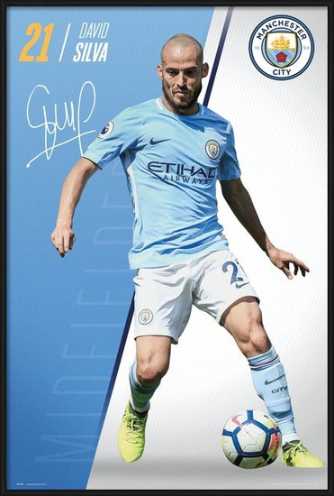 Manchester City - Silva 17-18 Plakát