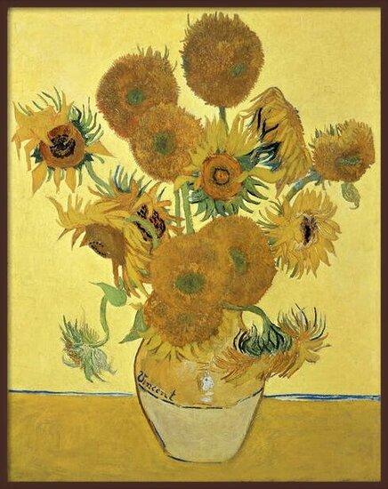 Sunflowers, 1888 Festmény reprodukció
