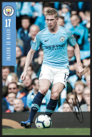 Manchester City - De Bruyne 18-19 Plakát