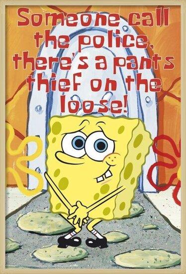 SPONGEBOB - sin pantalones Plakát