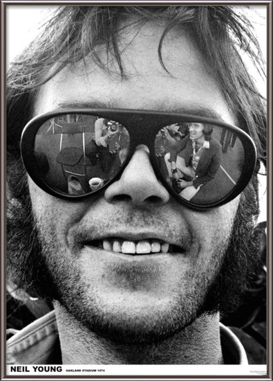 Neil Young - Oakland 1974 Plakát