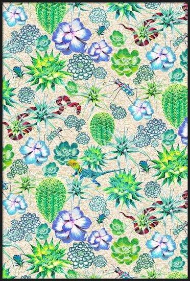 Les Jardins Majorelle - Succulents Festmény reprodukció