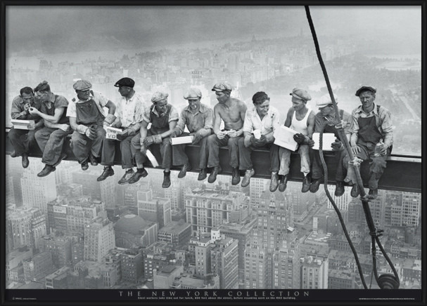 Men on girder - New York Plakát