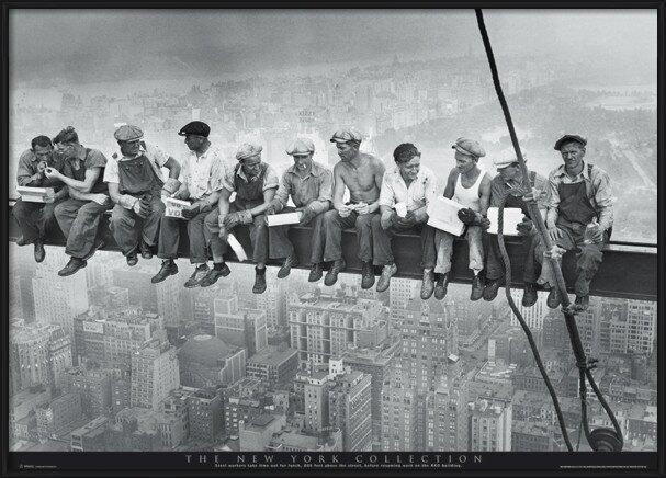 Men on girder - New York Plakát