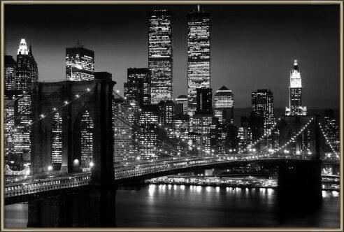 Manhattan - night Plakát
