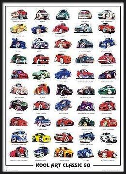 Koolart classic 50 - autíčka Plakát