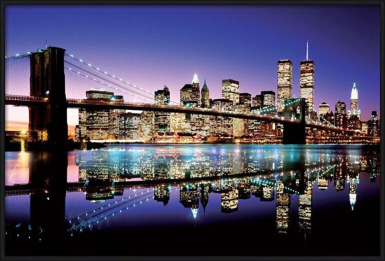 Brooklyn bridge - colour Plakát
