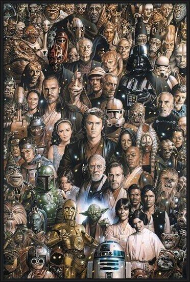 STAR WARS - characters Plakát